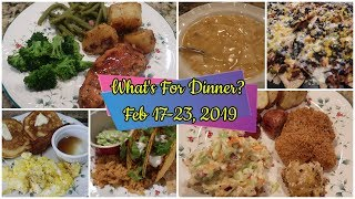What's For Dinner? Feb 17-23, 2019 | Cooking for Two | Easy Meal Ideas
