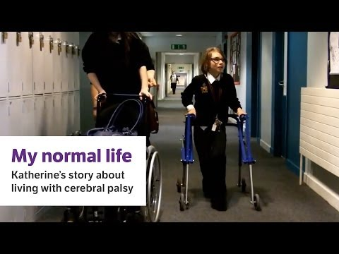 Screenshot of video: My Normal Childhood with Cerebral Palsy- Katherine's Story
