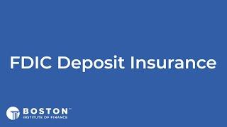 Mini Bite: FDIC Deposit Insurance