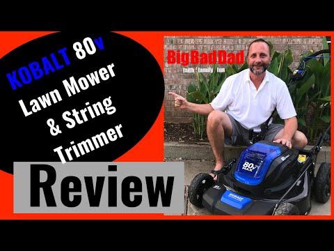 KOBALT 80v electric Lawn Mower & String Trimmer Review  - Thủ thuật