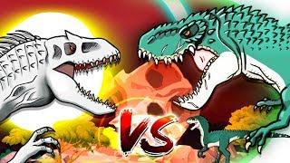 Dinosaurs Battle | Vastatosaurus rex VS Indominus rex