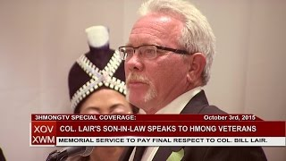 3HMONGTV NEWS: Son-in-law of Col. Bill Lair speaks to Hmong veterans & community leaders.