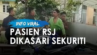 Viral Video Pria Berbaju Hijau Kabur dari Rumah Sakit Jiwa, Dikasari Sekuriti saat Ditangkap