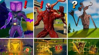 ALL NEW Bosses, Mythic Weapons & Keycard Vault Locations (Boss Cube, Boss Carnage, Sirenhead, Venom)