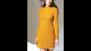 Вязаные Платья Спицами 2018 / Knitted Dresses with Knitting Needles / Strickkleider mit Stricknadeln | Kholo.pk