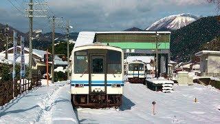 JR三江線の大雪運休 沿線現況 北線区間 (14-Jan-2018) 江津~浜原