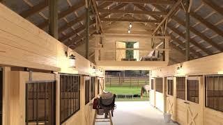 Horse Barn Interior Design Superb