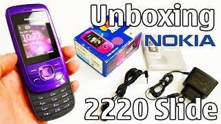 Nokia 2220 Slide Unboxing 4K with all original accessories RM-590 review