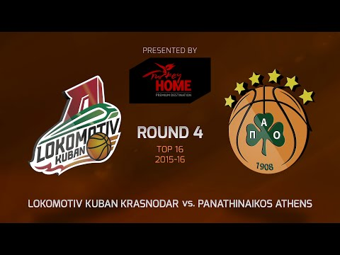 Highlights: Top 16, Round 4, Lokomotiv Kuban Krasnodar 76-67 Panathinaikos Athens