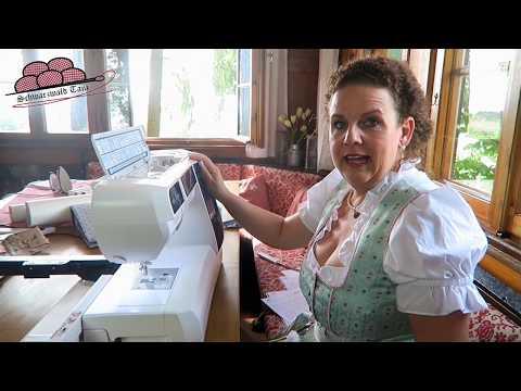 Küchenhandtuch mit praktischer Aufhängung! Schwarzwald-Tani Schnittmuster : Aloisia | Elna 860