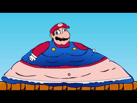 what kind of game is this... (super sized mario bros)