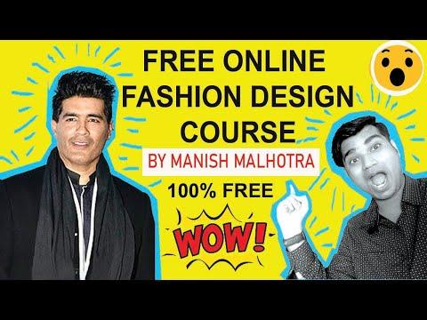 Free Online Fashion Design course classes by Manish Malhotra India Hindi Nift NID Design Career