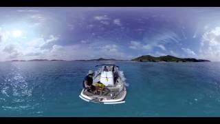 VR動画で沖縄 ツアー『沖縄 ボート360度動画』4K 360°カメラの動画
