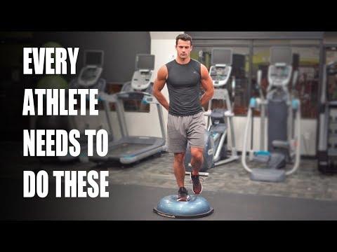 Bosu Ball Single Leg Balancing Exercise