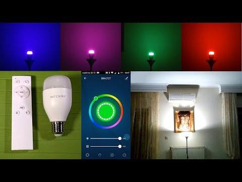 BlitzWolf BW-LT27 Wi-Fi Smart Bulb w/IR Remote | Unboxing, Setup, Hands-On