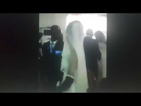 Trouble: Side chick dressed in wedding gown disrupts marriage ceremony