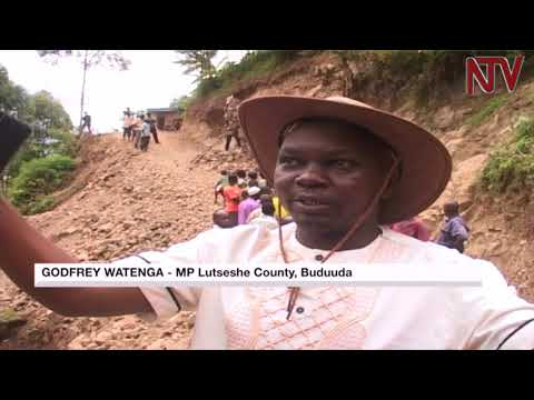 Bududa residents construct their own road to enable access to social services
