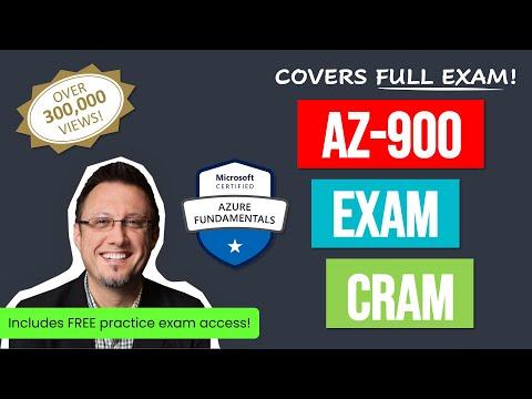 Azure Fundamentals Certification Exam Cram (AZ-900) Full Course ...