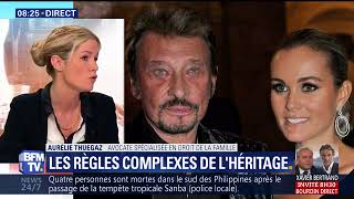 Que va-t-il advenir de l'héritage de Johnny Hallyday ? Interview BFMTV