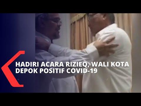 sempat hadiri acara rizieq shihab wali kota depok terkonfirmasi positif covid-