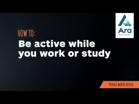 How to: be active while you work or study