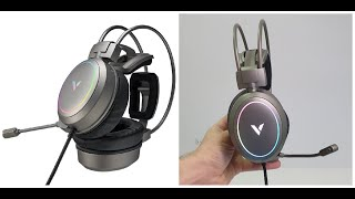 RAPOO Vh 610 Gaming Headphones 7.1 Channel 40mm Driver Unboxing/Review test! RGB+Mic