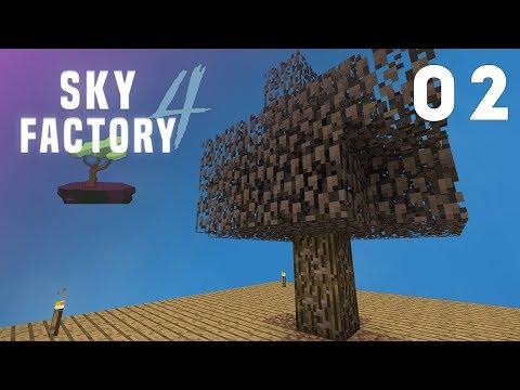 ►Sky Factory 4 - Ep. 2: IRON TREE! (Modded Minecraft 1.12)◄