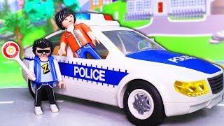 Видео для детей с игрушками Плеймобил – Хитрый план! Полицейская машинка