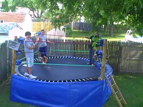 Backyard Trampoline Wrestling Ring