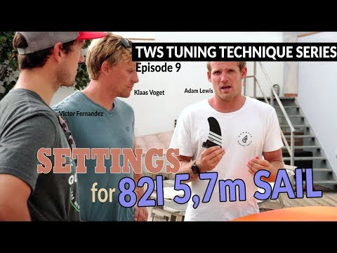 TWS Tuning Technique Series – Ep9: 5,7 sail with 82l board setup. light wind wave windsurfing
