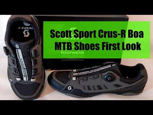 Видео Велотуфли Scott Sport Crus-R BOA (Anthracite/Red)