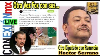 Vicente Fox no se calma, tiene mucha envidia y frustración contra AMLO.
