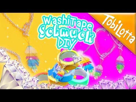 Washitape Schmuck selber machen | Glücksbringer basteln | Ideen TobiLotta 150