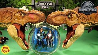 New Jurassic World Fallen Kingdom Gyrosphere RC Mattel Dinosaur Toys T-Rex Vs T-Rex WD Toys