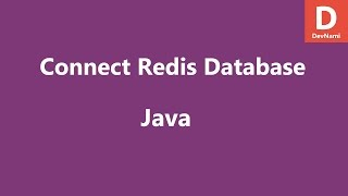 Connect to Redis Database in Java