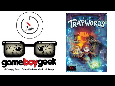 Trapwords (Allegro 2-min) Review with the Game Boy Geek
