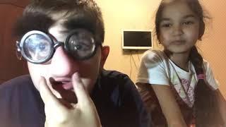 My brother-friend and I 😂😂/Funny blog/elina smile \ Бровястый доктор в очках 😂