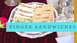 How To Make PERFECT Cucumber Finger Sandwiches | Tea Party🎉