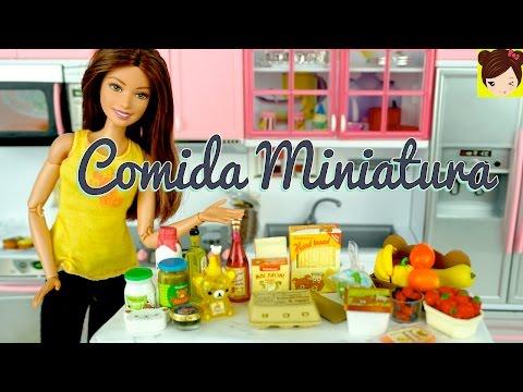 Compras de Supermercado Miniature para Muñecas - Comida de Juguetes Rement - Titi