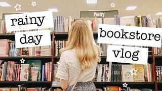 Bookstore Vlog: Haul & Cozy Rainy Day 🌧