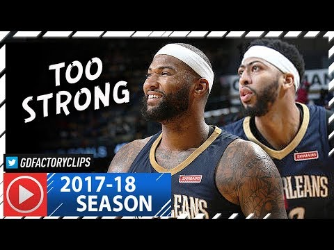 Anthony Davis & DeMarcus Cousins EPIC Highlights vs Blazers (2018.01.12) – 60 Pts 28 Reb Combined!