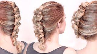 Смотреть онлайн Как плести французскую косу с петельками
