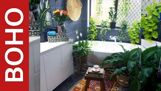Discover 25 Examples To Pull Off Boho Style In Your Bathroom | Interior Design