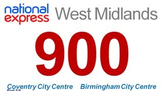 National Express West Midlands: Route #900 (Coventry - Birmingham) [Part 1/4]