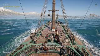 Assassin's Creed Odyssey - Kassandra Tells Barnabas She Killed The Minotaur Sailing Adrestia (2018)