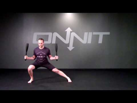 Double Side Ready Side Lunge Steel Club Exercise