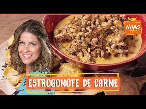 Que tal saborear um delicioso estrogonofe de carne?