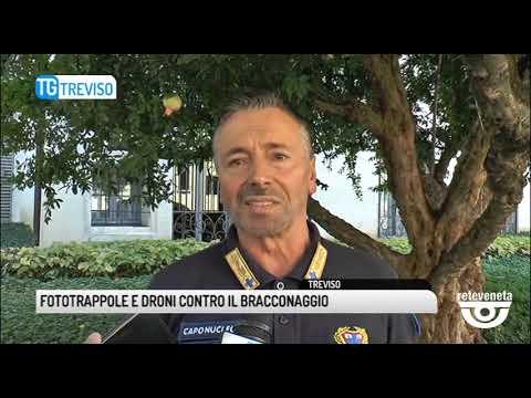 TG TREVISO (14/09/2019) - FOTOTRAPPOLE E DRONI CONTRO IL BRACCONAGGIO
