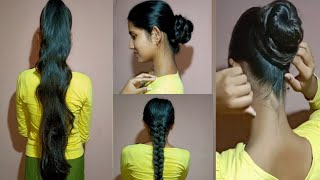 Bun & Ponytail Hairstyle। Hairstyle For Occasion।Swagata Fashion।