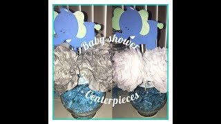 Elephant Baby Shower Centerpieces.